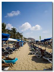 Da de Playa (Marian Blasco fotografa) Tags: espaa sol beach umbrella mar spain sand agua sandy playa olympus palmeras arena alicante verano umbrellas olas calor sombrillas e510 hamacas marian2705