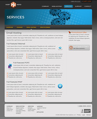 Host Head - Services page (Cristian Bosch) Tags: webdesign templates mockups designcomps webcomps