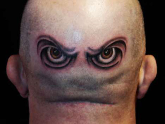 Eyes - bald tattoo