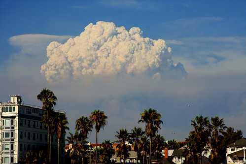 Station Fire - view from Venice Beach
