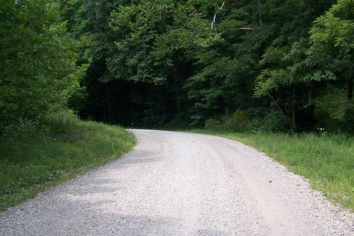 Gravel National Road segment