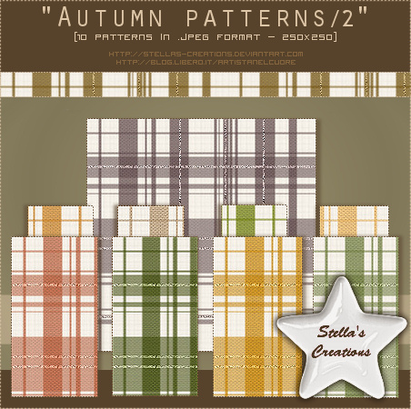 Autumn patterns Set 2 - © Blog Stella's Creations: http://sc-artistanelcuore.blogspot.com
