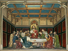 Last Supper: Mulhouse / Letztes Abendmahl (Hellebardius) Tags: france church frankreich catholic alsace passion stetienne neogothic elsass lastsupper mulhouse holythursday abendmahl letztesabendmahl karwoche dasletzteabendmahl maundythursday neugotisch grndonnerstag