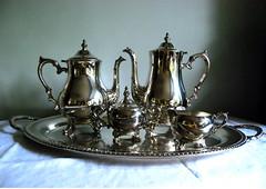 Vintage Tea Service (calloohcallay) Tags: vintage housewares teapot teaset coffeepot holloware silverplate internationalsilver calloohcallay