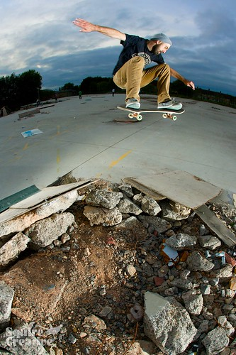 Wes: frontside ollie, like BOOOM!