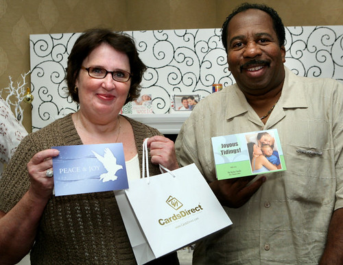 Phyllis and Stanley and their CardsDirect cards