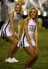 TCU halftime show (MattyV53) Tags: college rain sport dance football action frogs cheerleader halftime tcu smu mustangs collegefootball cfb hornedfrogs tcufootball smufootball matthewvisinsky mattyv53 mattvisinsky tcucheerleader