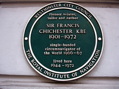 Photo of Francis Chichester green plaque
