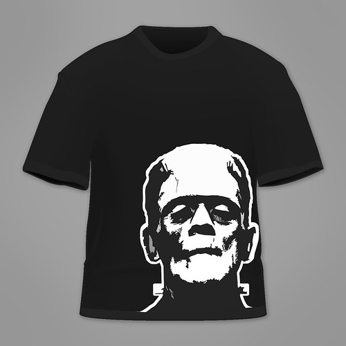Frankenstein T-Shirt by Budzi Graphic Design.