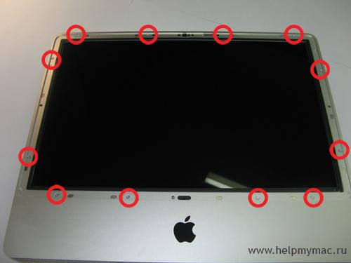 Один из этапов открытия iMac