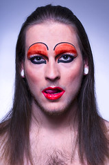 Drag Queen (drifs) Tags: lighting light boy portrait selfportrait man face fashion self drag autoportrait flash makeup queen portraiture trans dragqueen maquillage homme strobe eclairage travesti ehrhardt drifs strobiste