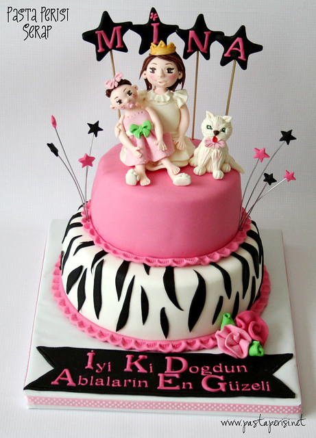 9ST. BIRTHDAY ZEBRA CAT CAKE-MİNA