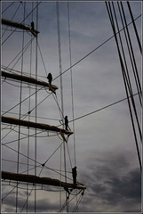 314 (Sebazac) Tags: sky color colour argentina digital marina photoshop canon eos rebel libertad barco ship wind navy armada cielo fragata cs4 mastil xti sebazac
