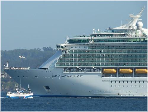 2096-Independence of The Seas no Porto da Coruña