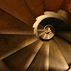Stairway to Gaudi's Heaven (A Sutanto) Tags: barcelona city church up stairs spiral spain cathedral down spire gaudi lasagradafamilia bassilica