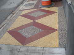 The first quilty sidewalk I saw