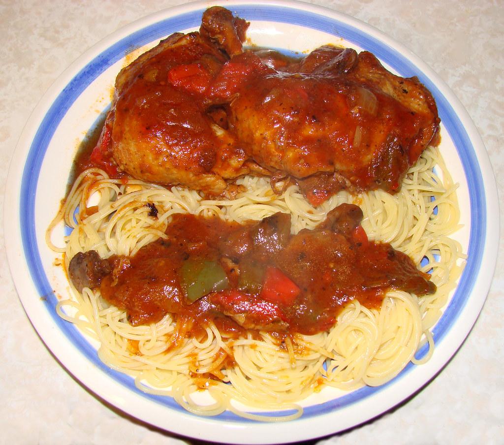 Impromtu Chicken Cacciatore! Viva Italia!