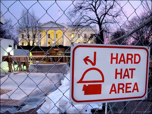 hardhat sign washingtondc dc bush construction whitehouse dcist obama inauguration inauguration2009