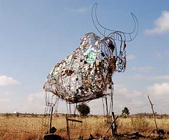 Recycled art at Kitengela