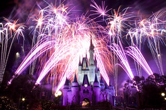 Fantasy in the Sky purple (tannerochel) Tags: castle night purple fireworks disney wdw waltdisneyworld magickingdom cinderellacastle fantasyinthesky