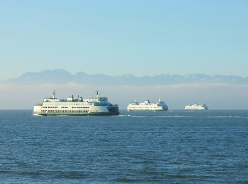 Three Seattle ferries