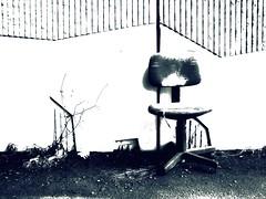 Abandoned. (candido baldacchino) Tags: camera digital chair sony cybershot picnik sonycybershot trashbit memoriaof petiteshistoiressansparoles candidobaldacchino