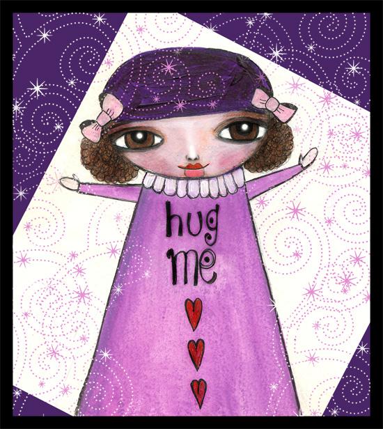 hug me girl