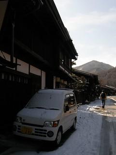 前夜一場雪的奈良井宿@ 2009-02-12