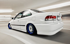 Team 5 Star:  Dumpt Coupe (_jvns) Tags: honda star team 5 low civic ek ssr coupe jdm slammed recaro longchamps xsr