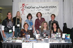 GoGirls booth Folk Alliance 2009
