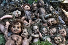 Decayed Dolls II (~EvidencE~) Tags: usa newyork toronto ontario abandoned buffalo nikon doll decay ps dirty scarey hdr ue demented photomatix d80 furniturewarehouse mywinners ~evidence~ location~buffalo decayeddolls2