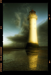 Brighton Rock.. (jetbluestone) Tags: sky lighthouse film clouds frame wirral newbrighton perchrock hdraward