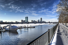 Boston-Skyline in the Winter (Werner Kunz) Tags: city blue winter sky urban usa cloud sun white building tower boston skyline clouds america photoshop buildings john river landscape ma town us nikon downtown unitedstates massachusetts centre charlesriver towers cyan skylines newengland himmel wolken center american 40 blau hancock amerika zentrum sonne weiss dri prudential hdr backbay beaconhill prudentialcenter hdri werner gebaeude beantown hochhaus skyscrapper wolkenkratzer gettyimage johnhancocktower kunz photomatix vereinigtestaaten nordamerika vereinigtestaatenvonamerika 20fav hochhaeuser colorefex anawesomeshot nikond40x topazadjust werkunz1