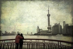 Shanghai Love Story/  (to ang, with love) Tags: china texture love asian shanghai lovers romantic     cinta    shanghaibund     shanghailovestory