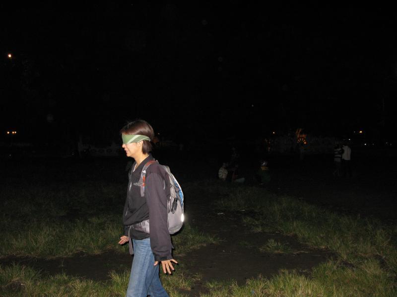 alun-alun selatan blindfold game Yogjakarta Indonesia