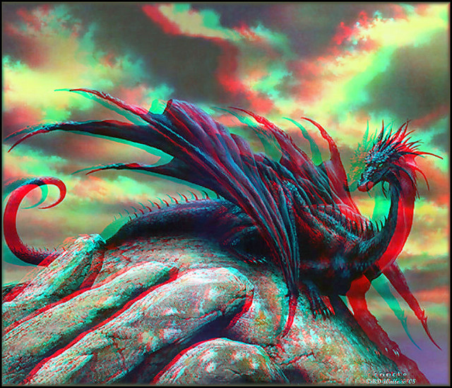 Red/Cyan filtered 3D glasses required to view. Image from a wallpaper site
