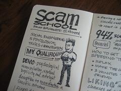 SXSWi 2009: Sketchnotes: Scam School