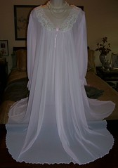Miss Elaine Pale Pink Antron Nylon Nightgown Full Length Front Draped (mondas66) Tags: lace nylon nightgown nightdress nightie misselaine antron