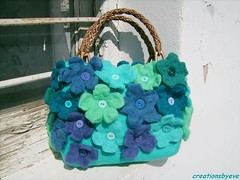 flowered turquoise bag (1) (creationsbyeve) Tags: flower cute bag europe felting handmade turquoise teal crafts aquamarine felt greece homemade handcrafted etsy cobaltblue artisan crafting esty handfelted handmadegifts handcraftedgifts europeanstreetteam creationsbyeve etsygreekteam