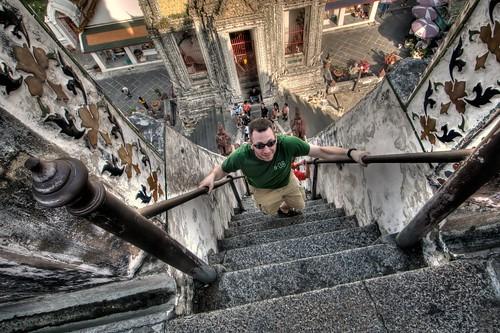 Doug Climbs Wat Arun