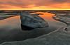 DREAM OF THE DOLPHIN (tropicaLiving - Jessy Eykendorp) Tags: ocean light sunset shadow sea sky bali orange seascape reflection beach rock indonesia landscape grey coast shoreline tanahlot efs1022mmf3545usm canoneos50d tropicaliving jessyce dreamofthedolphin