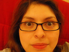 Day 150: Guys don't make passes at girls who wear glasses (ha!) (Cuerazola) Tags: glasses bigeyes 365 sundaynight cuerazola