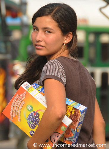 Selling Cereals at Santa Ana Market