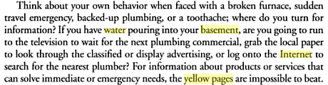 Yellow Pages Water in Basement Scenario