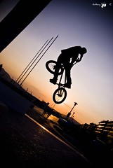 Turn Down Iasonas On Sunset (AnthonyR.) Tags: city sunset summer urban sun turn bmx extreme lifestyle down greece trick volos turndown magnesia