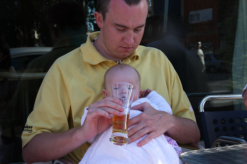Having a beer with Daddy