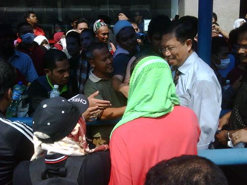 Datuk Seri Nizar Jamaluddin outside PAS HQ by The Edge Malaysia.