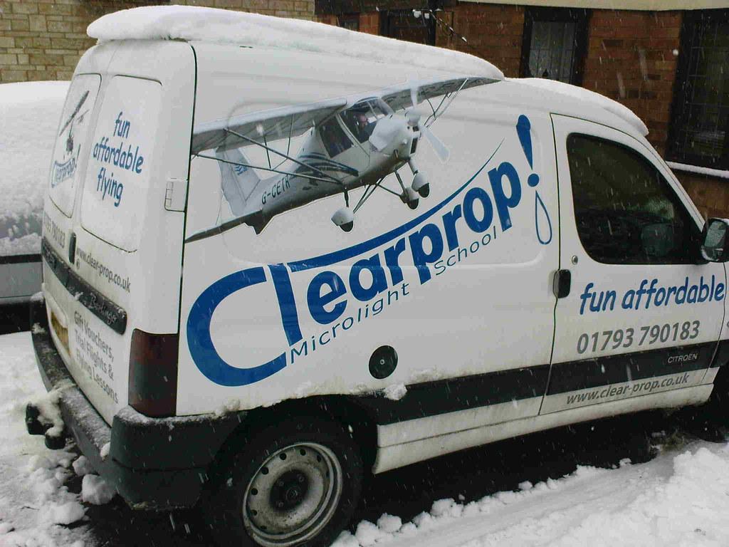 Snow Covering Clearprop's Van