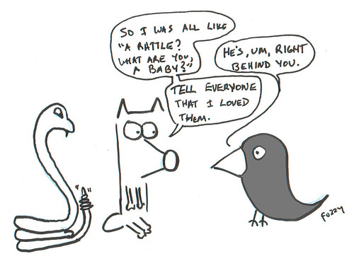 366 Cartoons - 193 - Coyote and Raven
