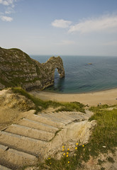 Durdle Door (orangebrompton) Tags: sea beach water landscape bay coast seaside sand scenery arch steps cliffs dorset limestone jurassic lulworth durdledoor jurassiccoast